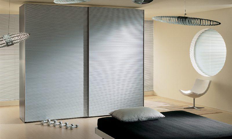 Alluminio Sliding Door Wardrobe EmmeBi