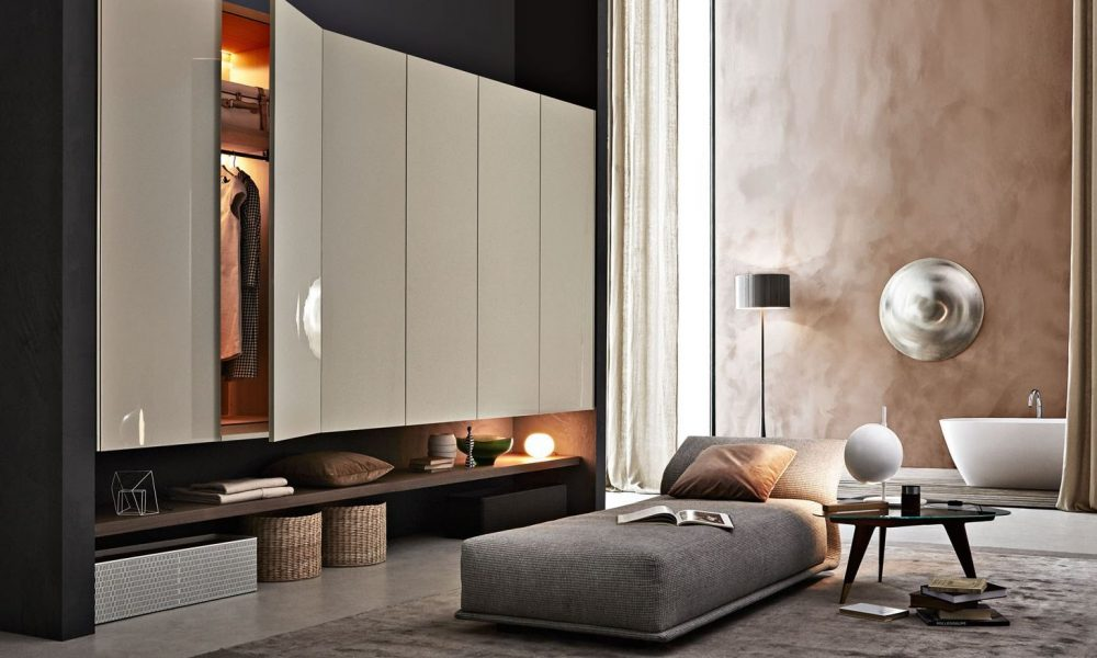 Gliss Up Hinged Door Wardrobe Molteni & C
